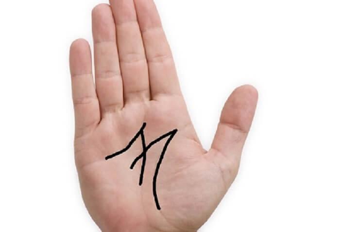 Đường chỉ tay đặc biệt hình chữ M