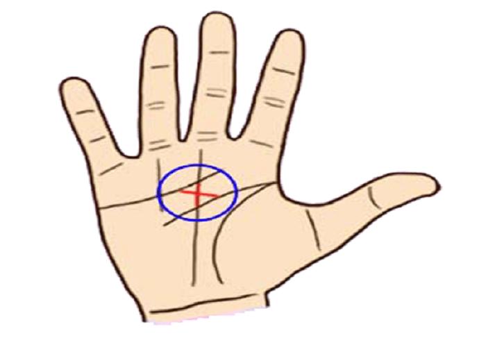 Đường chỉ tay chữ X